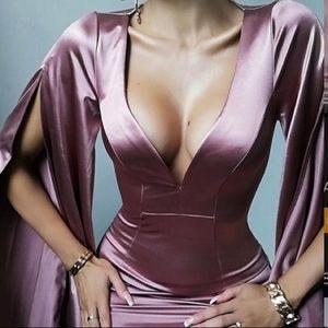 Satin Mini Dress - Rose Gold